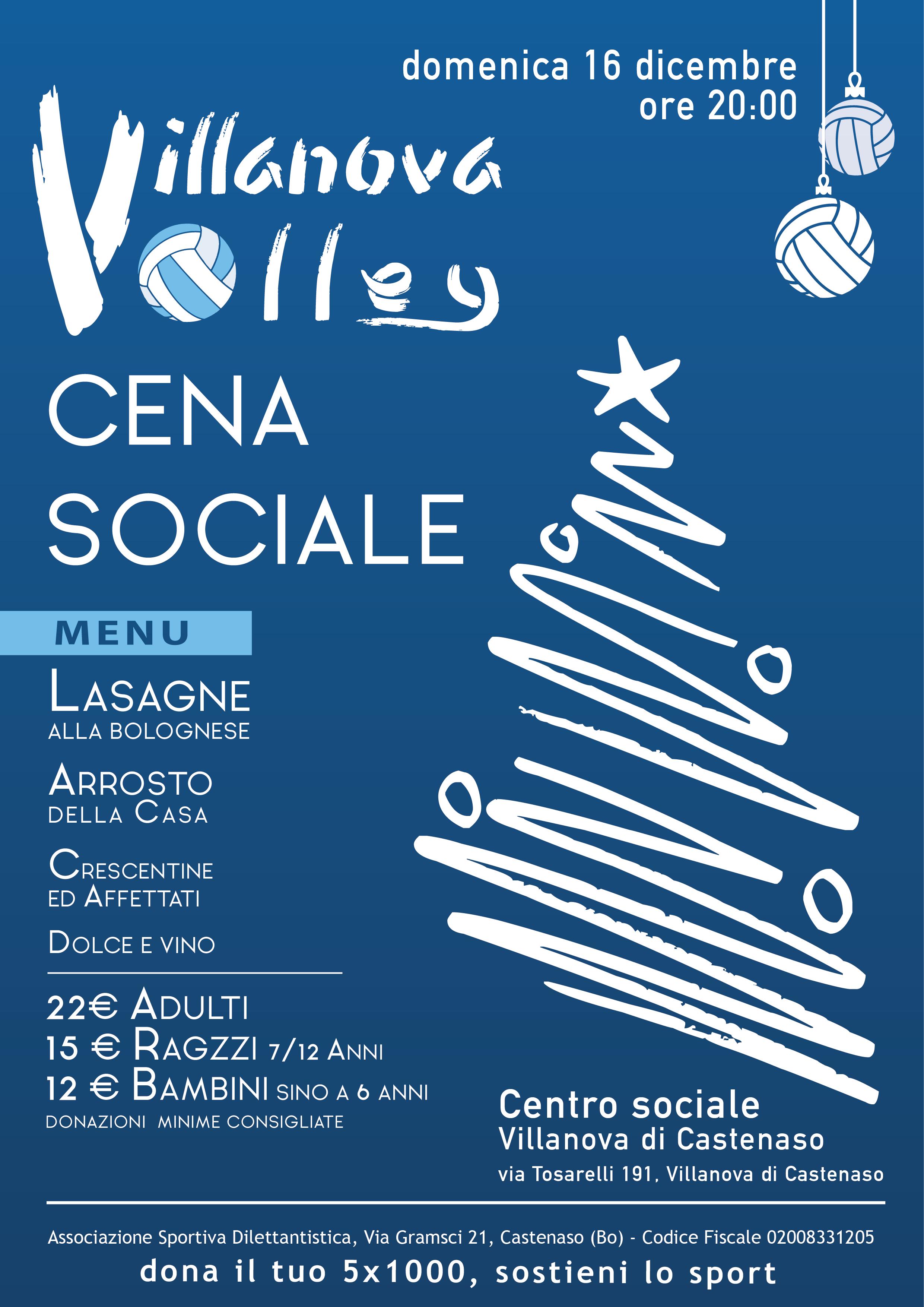 Gli Auguri Di Natale.Scambiamoci Gli Auguri Di Natale A Cena Villanova Volley